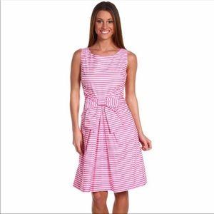 Kate Spade Jillian Pink White Striped Dress Size 8